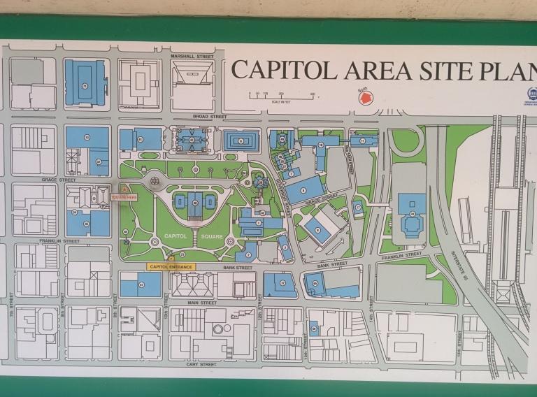 Virginia Capitol Area Map - Richmond, VA